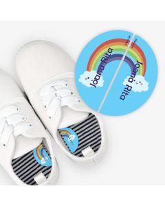 Etiquetas para calzado izquierda y derecha  -  Arcoiris