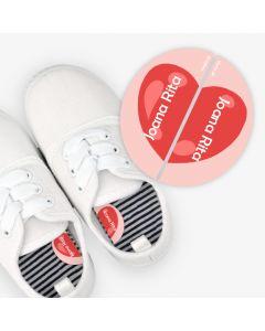 Etiquetas para calzado izquierda y derecha - Corazon