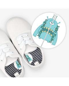 Etiquetas para calzado izquierda y derecha - Monstruo