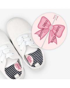 Etiquetas para calzado izquierda y derecha - Lazo Rosa
