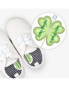 Etiquetas para calzado izquierda y derecha - Trébol