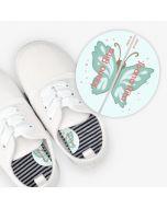 Etiquetas para calzado izquierda y derecha  -  Mariposa