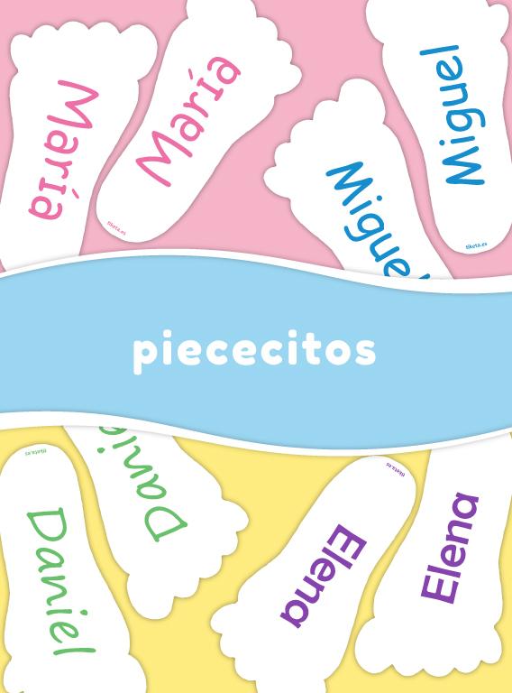 Etiquetas Calzado piececitos